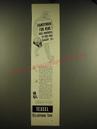 1941 Texcel Cellophane Tape Ad - Handyman for hire does hundreds of odd jobs