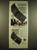 1941 Buxton 3-way Billfold Ad - You pay for only one billfold
