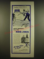 1941 Haig & Haig Scotch Ad - Bowling a perfect score