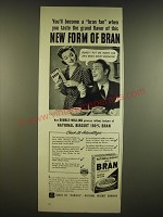 1941 Nabisco 100% Bran Cereal Ad - You become a bran fan when you taste
