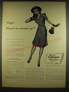 1941 Cannon Percale Sheeets Ad - Oops! Where'd my resistance go?