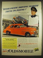 1941 Oldsmobile Cars Ad - Hydra-matic driving nearest thing to flying