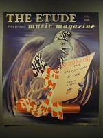 1940 Etude Magazine Cover - American Eagle art by Leonard Burland