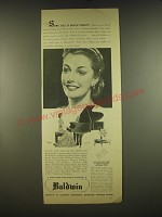 1938 Baldwin Pianos Ad - Some call it social charm
