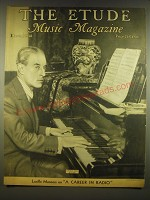 1938 The Etude Magazine Cover - Maurice Ravel