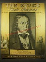 1938 The Etude Magazine Cover - Nicolo Paganini