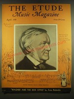 1938 The Etude Magazine Cover - Richard Wagner