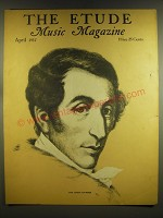 1937 The Etude Magazine Cover - Carl Maria von Weber