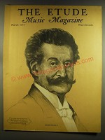 1937 The Etude Magazine Cover - Johann Strauss, Jr.