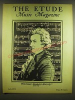1937 The Etude Magazine Cover - Wolfgang Amadeus Mozart