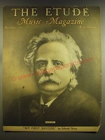 1937 The Etude Magazine Cover - Edvard Grieg