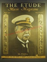 1936 The Etude Magazine Cover - John Philip Sousa Ad