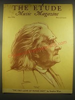 1936 The Etude Magazine Cover - Franz Liszt