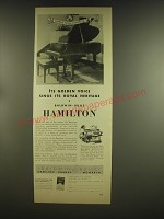 1936 Baldwin Hamilton Piano Ad - Its golden voice sings its royal heritage