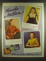 1939 Kotex Sanitary Products Ad - Thanks a million