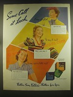 1939 Kotex sanitary Products Ad - Some call it luck