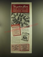 1939 Libby's Vienna Sausage Ad - For zestier flavor sausages hardwood smoked