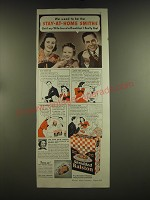 1939 Shredded Ralston Cereal Ad - We used to be the stay-at-home Smiths