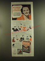 1939 Shredded Ralston Cereal Ad - My family had me worried until I found a way