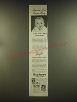 1939 Gerber's Baby Food Ad - America's best known baby ..keeps close watch on