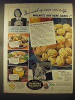 1939 Diamond Walnuts Ad - Now watch my menus come to life - Walnuts are here