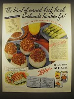 1939 Libby's Meats Ad - The kind of corned beef hash husbands hanker for