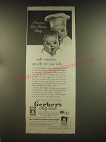 1939 Gerber's Baby Food Ad - America's best known baby.. Cooks vegetables