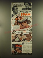 1939 Hormel SPAM Ad - They're coming for lunch - we're in a jam! Keep cool