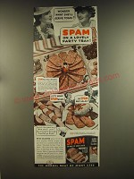 1939 Hormel SPAM Ad - Wonder what she'll serve today? Spam on a lovely party