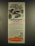 1939 Pillsbury's Best Flour Ad - How much would you pay for good baking results