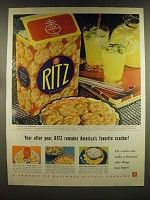 1939 Nabisco Ritz Crackers Ad - Year after Year, Ritz remains America's