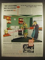 1939 American Gas Association Ad - Today 16,000,000 women