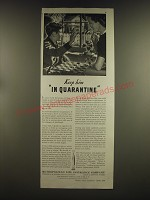 1939 Metropolitan Life Insurance Ad - Keep him in quarantine