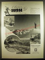 1939 Swiss Tourism Ad - in French - l'hiver en Suisse