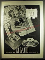 1938 Rigaud Feerie Perfume Ad - in French - Composition de Jean-Gabriel Domergue