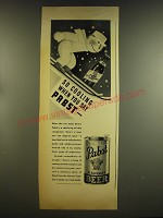 1937 Pabst Blue Ribbon and Export Beer Ad - So cooling when you say Pabst