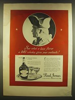 1937 Paul Jones Whiskey Ad - See what a keen flavor a dry whiskey gives