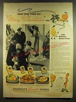 1937 Stokely's Finest Foods Ad - Make your table say Merry Christmas too