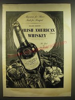 1937 Jameson Irish American Whiskey Ad - American for flavor Irish for Bouquet