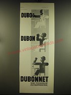 1934 Dubonnet Aperitif Ad - in French - Dubo Dubon Dubonnet vin tonique