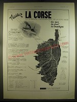 1934 Corsica Tourism Advertisement - in French - La Corse