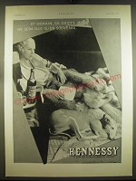 1934 Hennessy Cognac Ad - in French, featuring photograph by Laure Albin Guillot