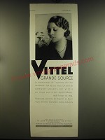 1933 Vittel Water Ad - in French - Vittel grande source