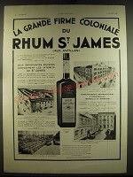 1933 Rhum St. James Ad - in French - La grande firme coloniale du Rhum St. James