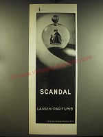 1932 Lanvin Scandal Perfume Advertisement - in French