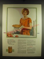 1926 Mazola Oil Advertisement - recipe for Pie Crust - art by C F Neagle
