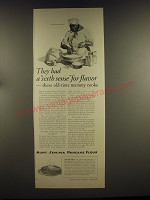 1926 Aunt Jemima Pancake Flour Ad - They had a sixth sense for flavor