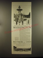 1926 Baltimore & Ohio Railroad Ad - A city of surpassing interest