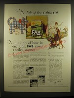 1926 Fab Detergent Ad - The tale of the Calico Cat