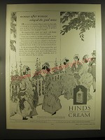 1926 Hind's Honey & Almond Cream Ad - Woman after woman relayed the good news